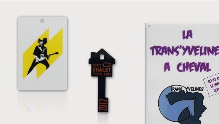 Plaques événementielles imprimées sur plexiglas blanc ou coloré