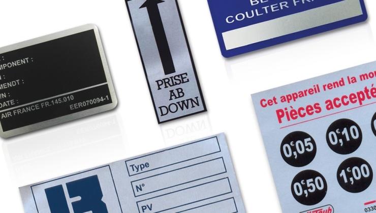 Etiquettes industrielles souples imprimées sur film polyester