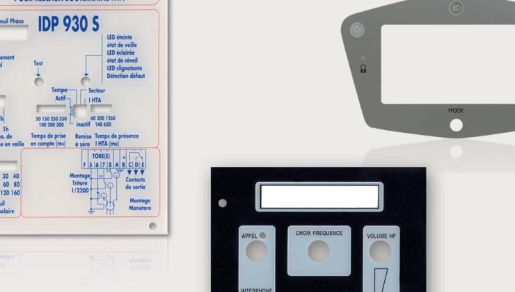 Faces avant réalisées en plexiglas imprimé par envers