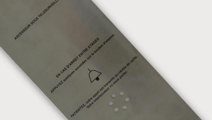 Pièce en inox imprimé par sérigraphie