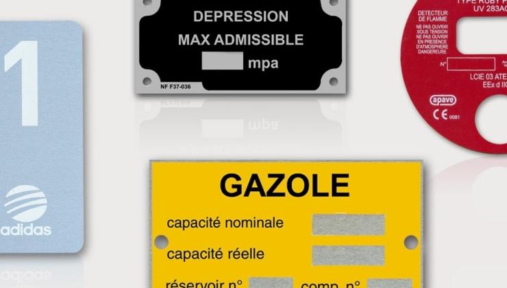 Plaques d'identification fabriquée en métal sérigraphié