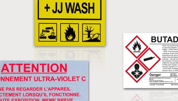 Autocollants de sécurité imprimés sur matières souples adhésives
