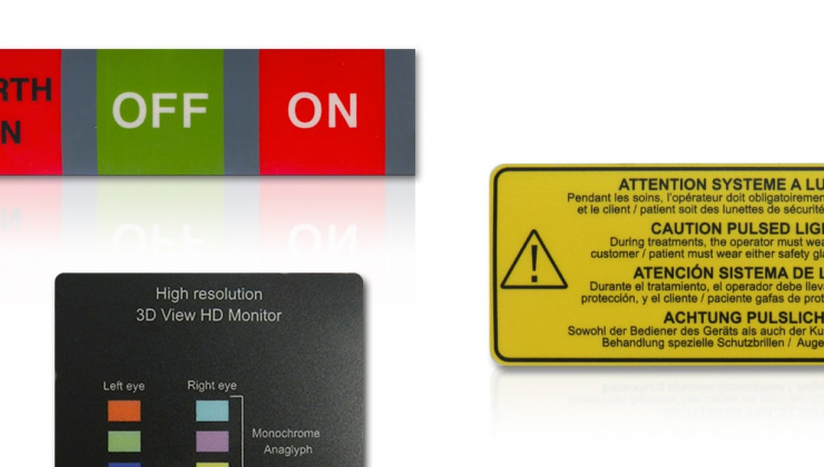 Etiquettes industrielles imprimées sur feuille de  lexan