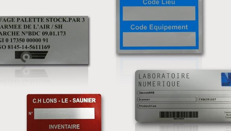 Etiquettes souples d'inventaire souple imprimées sur vinyle ou polyester argent