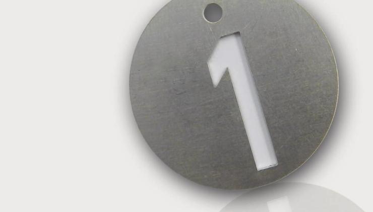 Jeton d'identification en inox marqué par découpe laser type