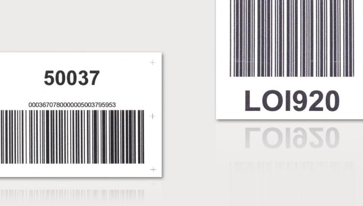 Etiquettes code barres réalisées en impression numérique sur matières plastiques (PVC ou vinyle adhésif)