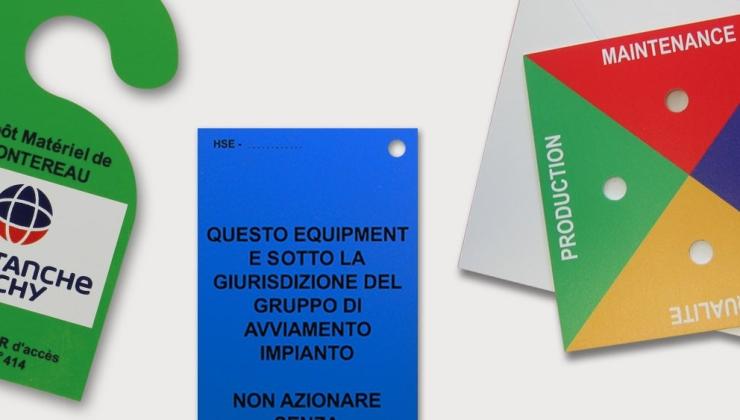 Plaques d'identification imprimées sur PVC