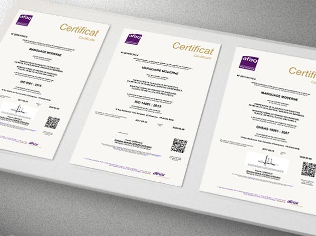 certifications QSE