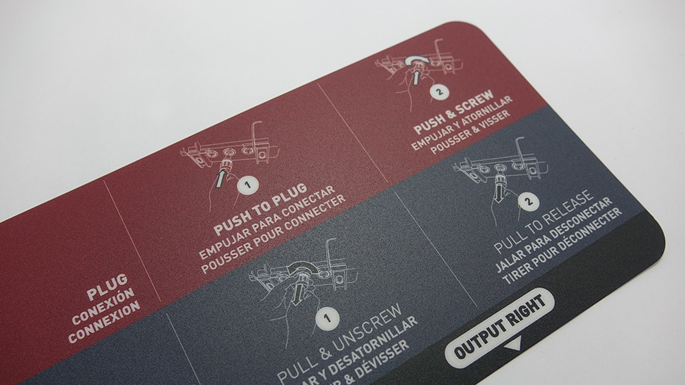 plastron lexan pour identification de matériel electronique