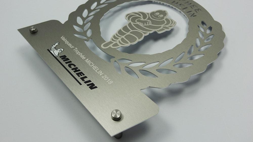 trophée métal pour michelin