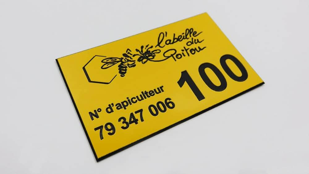 étiquettes d'identification en coplex gravé au laser