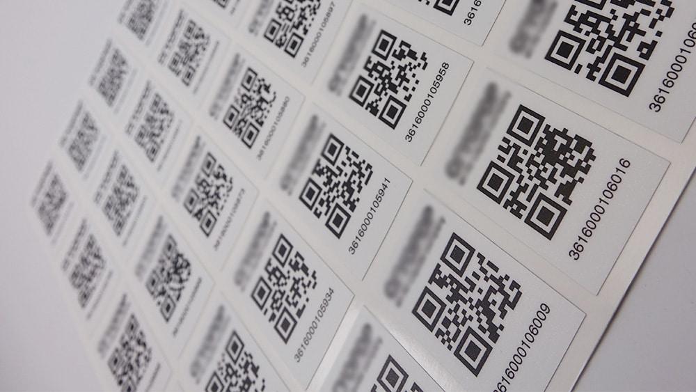 Etiquettes souples d'identification en vinyle avec QR code