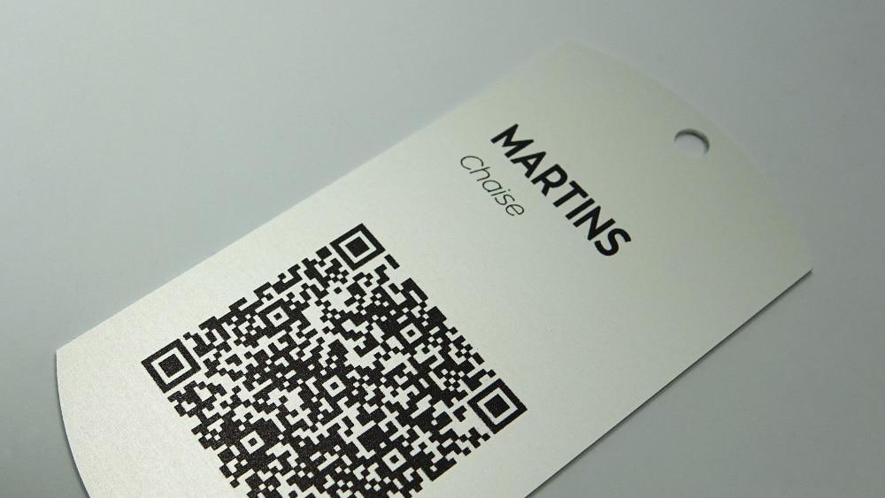 Etiquettes métal avec QR Code imprimé