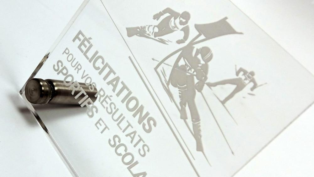 Trophée plexiglas lycée agricole